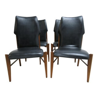 Lane Scandia Commander Dining Room Side Chairs - Set of 6 For Sale