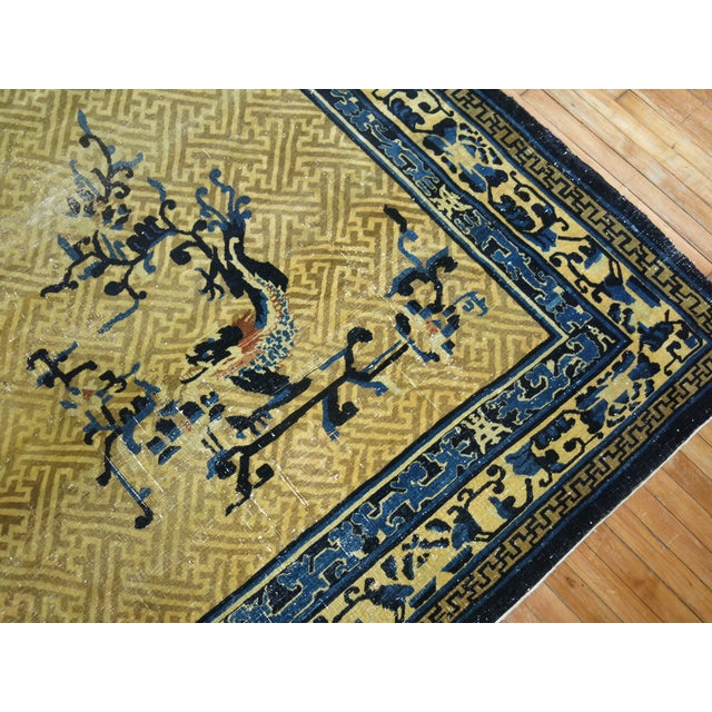 Tan Overisze Antique Chinese Rug, 13'3'' X 17'9'' For Sale - Image 8 of 13