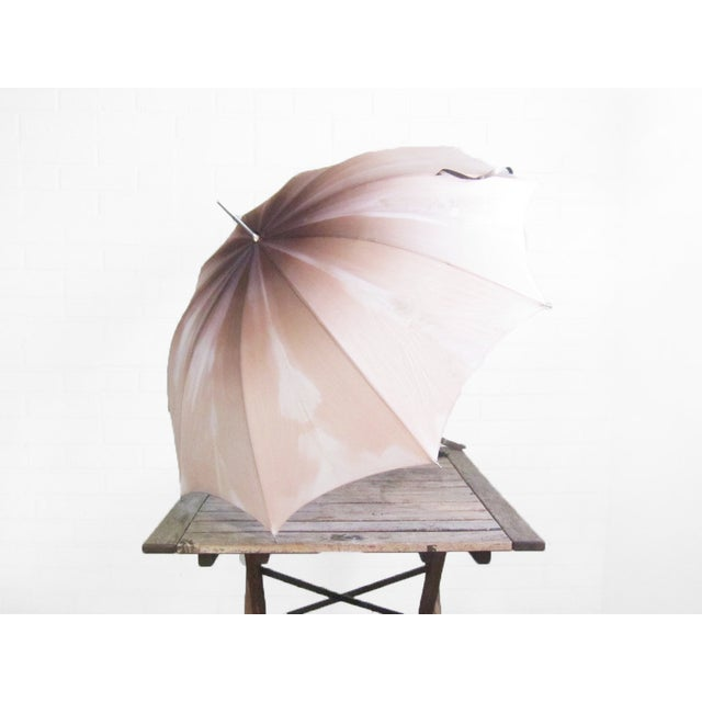 Vintage 1950s Purple Pink Ombre Umbrella - Image 3 of 6