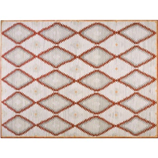 Contemporary Navajo Style Wool Rug - 8′ × 10′ For Sale