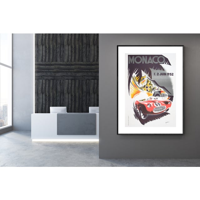 French 1985 Monaco Grand Prix Poster by B. Minnie For Sale - Image 3 of 4