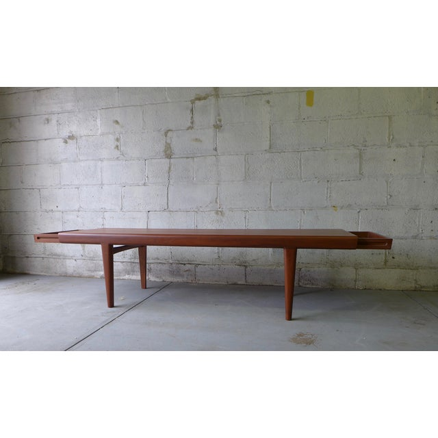 Mid-Century Modern Teak Coffee Table With Cubbies For Sale - Image 4 of 7