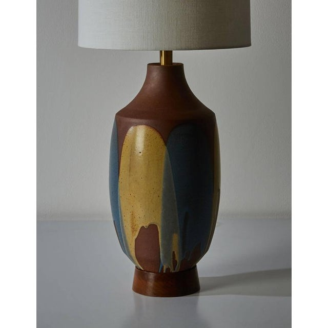 Ceramic Drip Glaze Table Lamp by David Cressey - Image 6 of 6