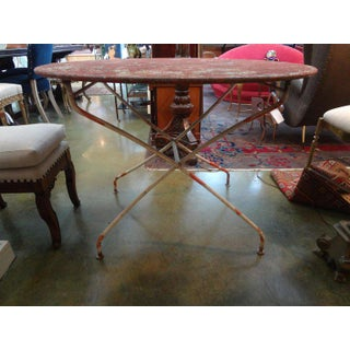 1920s French Iron Folding Garden Table Preview
