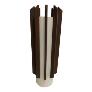 Mid-Century Modern Walnut and Acrylic Ceiling Fixture For Sale