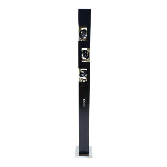 Angelo Lelii Triple Header Column Torchiere Floor Lamp For Sale