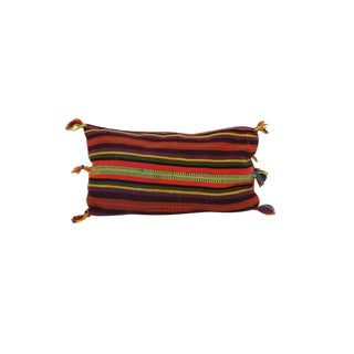 """Vintage Boho Chic Moroccan Pillow - 24""""x14"""" For Sale"""