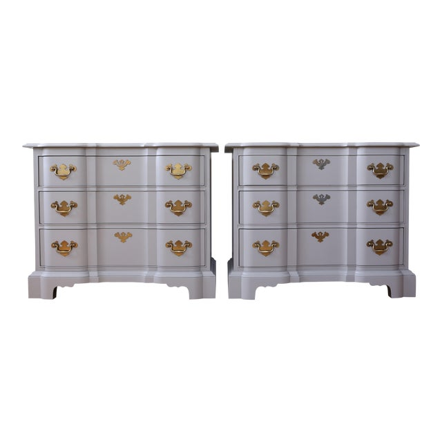 Vintage Drexel Heritage Modern Gray Nightstands - a Pair - Image 1 of 9