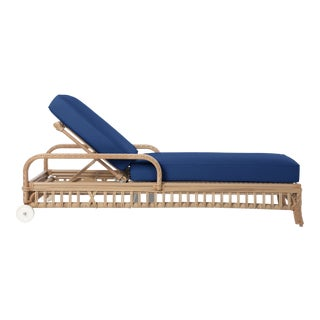 Viscaya Chaise Lounge in Pacific Blue For Sale