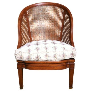 Henredon Schoonbeck Cane Back Barrel Chair