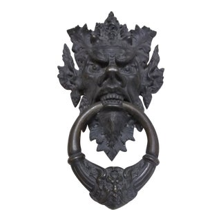Bronze Mythical Creature Door Knocker For Sale