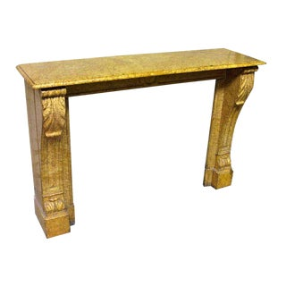 Antique Yellow Marble Mantel