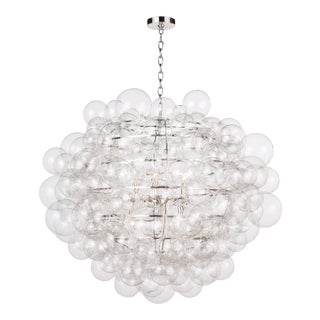 Nimbus Glass Chandelier in Clear For Sale