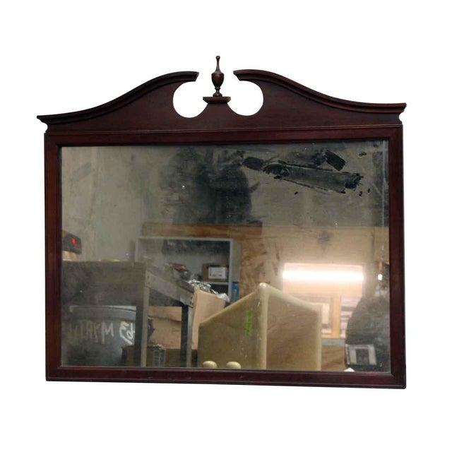 Traditional style mahogany wall mounted dresser mirror.