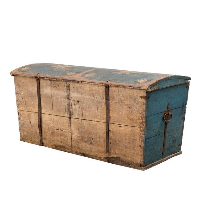 Mid 19th Century Gustavian Swedish Wedding Chest, 1846 For Sale - Image 5 of 8