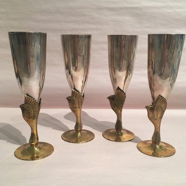 Godinger Silver Plated & Brass Bird Goblets - Set of 4 - Image 4 of 11
