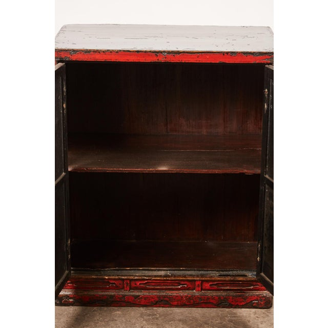 Lacquer 18th Century Chinese Pair of Two Door Cabinets For Sale - Image 7 of 10
