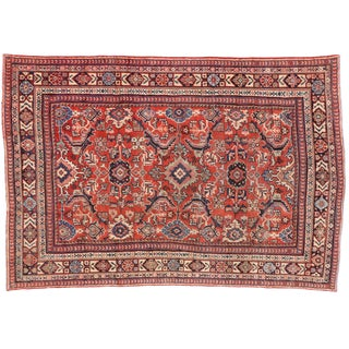 Vintage Mahal Persian Rug With Modern Federal Style - 7'4 X 10'10 For Sale