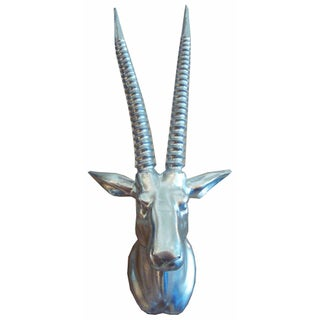 Gazelle Wall Mount in Silver For Sale