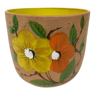 Italian Hand Painted Clay Planter