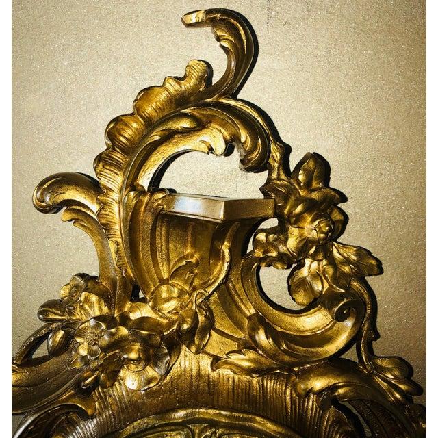 White 19th Century Louis XV Bronze Ormolu Cartel Clock For Sale - Image 8 of 12