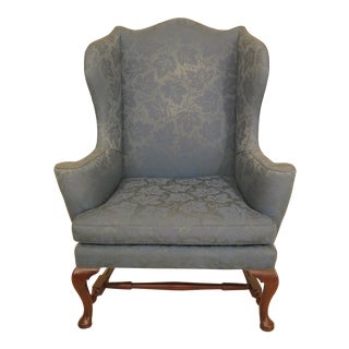 Kittinger Cw-44 Colonial Williamsburg Mahogany Wing Chair For Sale