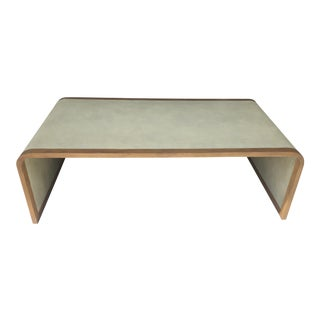 Faux-Shagreen Waterfall Coffee Table For Sale