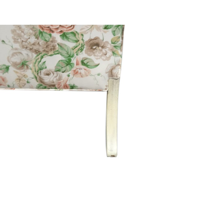 Hickory Chair Co. Floral Camel Back Bamboo Sofa - Image 8 of 11