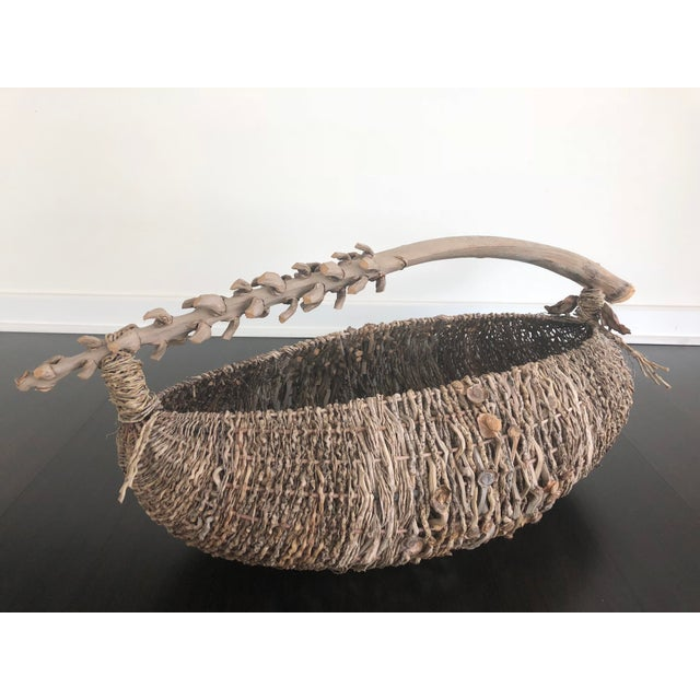 Contemporary Organic Modern Samuel Yao Handwoven Basket For Sale - Image 3 of 9