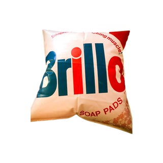 Andy Warhol Inspired Brillo Box Inflatable Pillow For Sale
