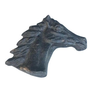 1950s Cast Iron Horse Head Finial For Sale
