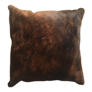 Vintage Rustic Cowhide Pillow For Sale