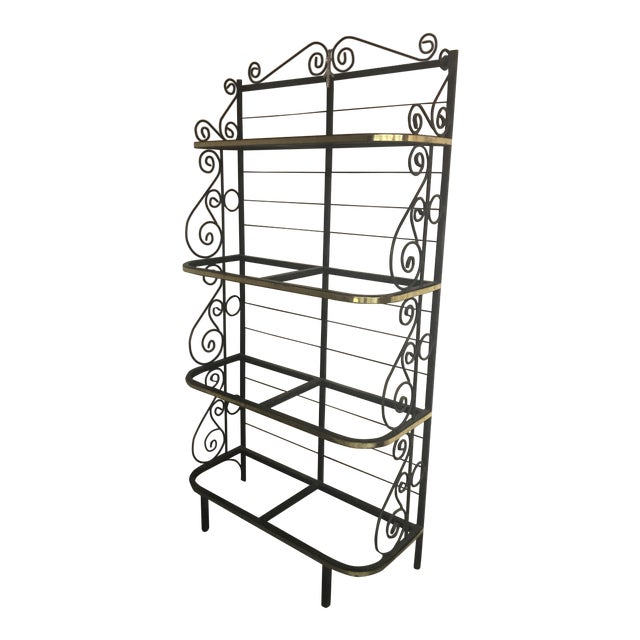 20th Century Contemporary Iron Bakers Rack For Sale