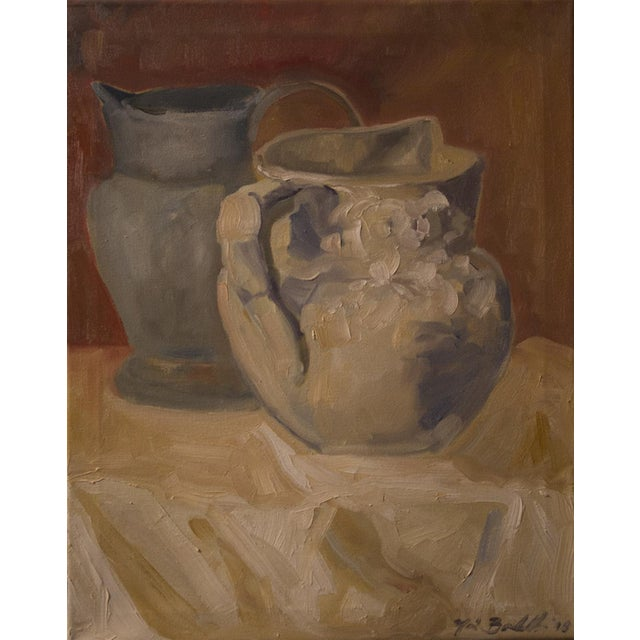 """Two Water Vessels"" Oil Painting - Image 2 of 3"