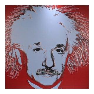 Einstein State I, a Pop-Art Screen-Print of Albert Einstein by Sak Steve Kaufman For Sale
