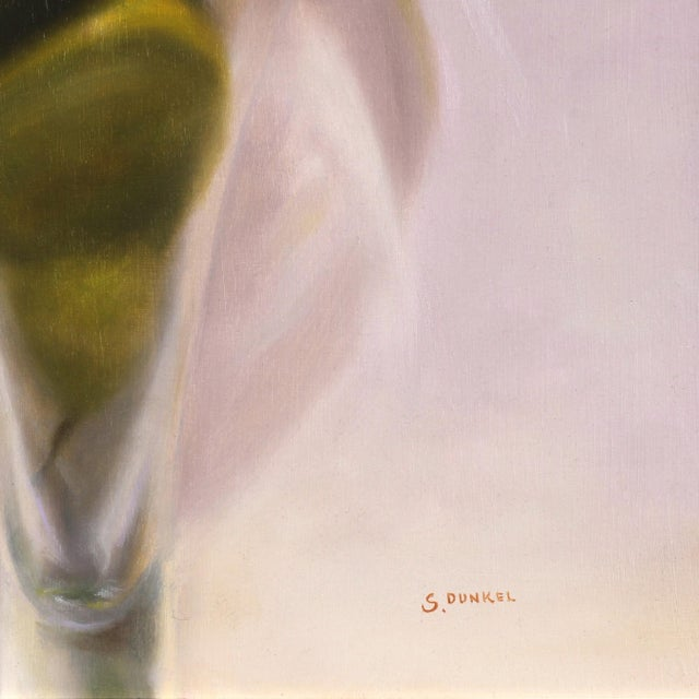 """2010s 21st Century """"Pears in Violet"""" Original Painting by Stuart Dunkel For Sale - Image 5 of 9"""