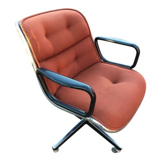 Vintage Mid Century Charles Pollock for Knoll Executive Chair For Sale
