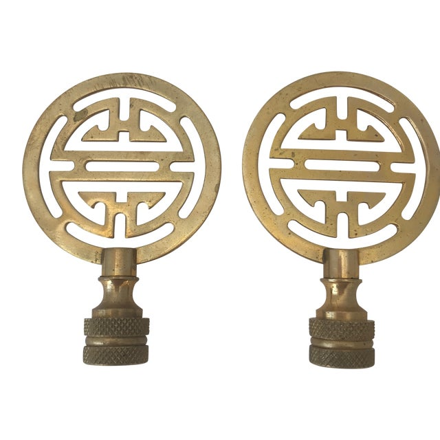 Brass Lamp Finials - A Pair - Image 1 of 3