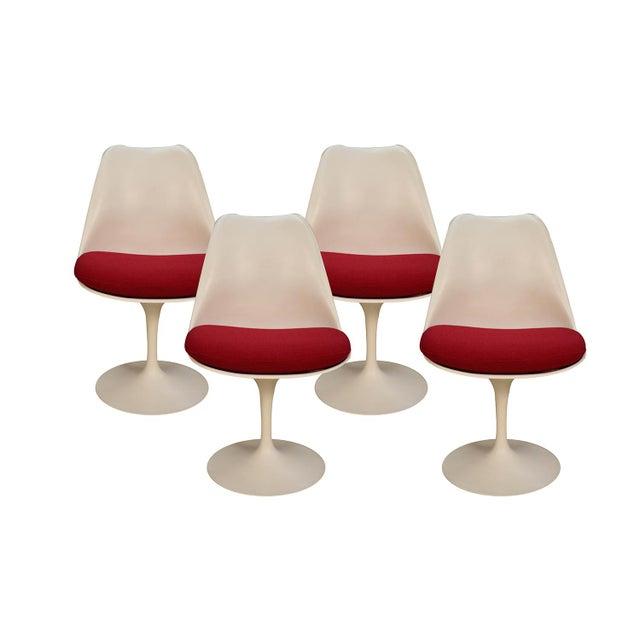 Four Knoll Eero Saarinen Swivel Tulip Chairs For Sale - Image 12 of 12