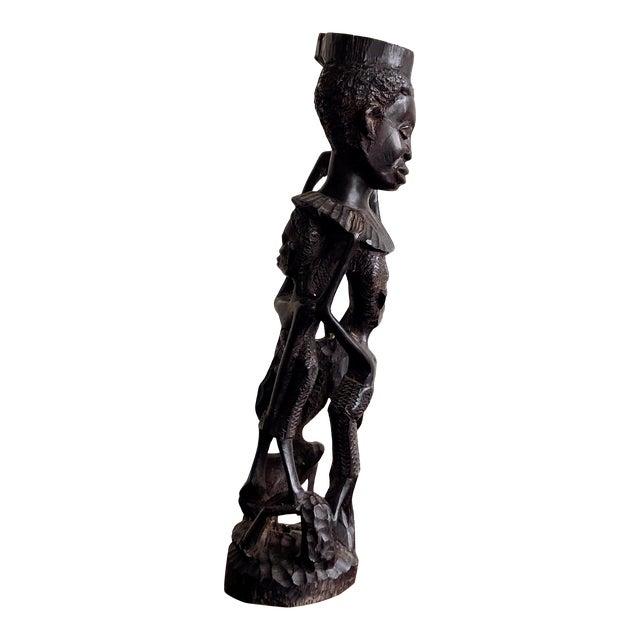 Kenyan Onyx Wood Figure Statue For Sale
