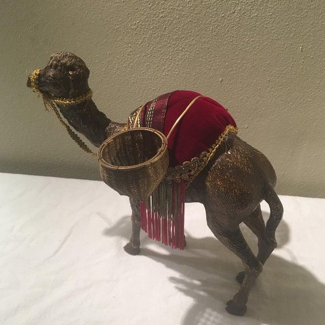 Hollywood Regency 1970s Hollywood Regency Decorative Camel For Sale - Image 3 of 7