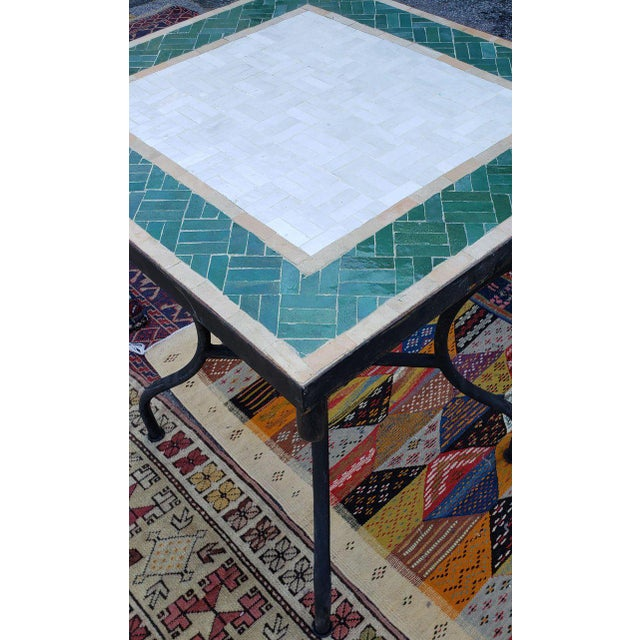 "Beautiful multicolor mosaic tile table made in Morocco. Square shape. A stunning table measuring approximately 25.5"" x..."