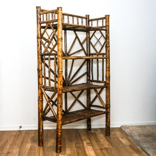 Vintage Bamboo Shelve Bookcase Preview