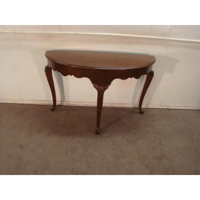 Brilliant 1990S Queen Anne Kincaid Cherry Demilune Console Table Beatyapartments Chair Design Images Beatyapartmentscom