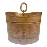 Image of Antique French Hinged Lid Tea Caddy For Sale