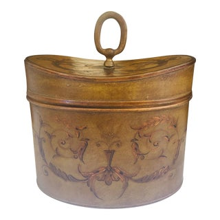 Antique French Hinged Lid Tea Caddy For Sale