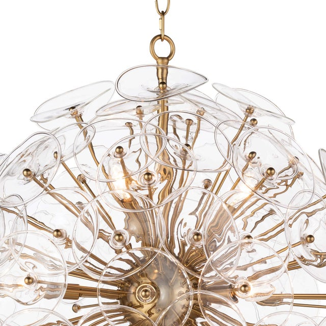 Traditional Poppy Glass Chandelier Small in Clear For Sale - Image 3 of 6