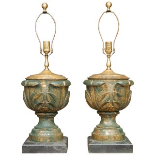 Neoclassical Table Lamps - a Pair For Sale