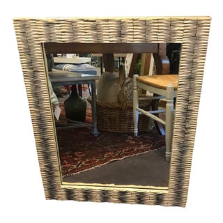 Mirror With Grey/Cream Frame For Sale
