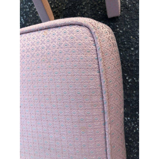 Textile 1970s Hollywood Regency Billy Baldwin Style X-Base Stools - a Pair For Sale - Image 7 of 12